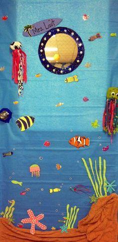 Ocean theme- Mrs. Last's door  Love love this door!
