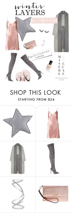 """""""Winter Lakers: Slip Dress"""" by milkandabsinth ❤ liked on Polyvore featuring Fleur du Mal, The Row, Gianvito Rossi, Maison Margiela, Kate Spade, women's clothing, women's fashion, women, female and woman"""