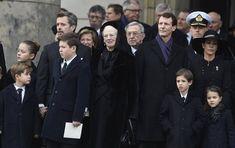 18 February 2018 - Danish Royals attend Prince Henrik's funeral service in Copenhagen Prince Felix Of Denmark, Princess Marie Of Denmark, Denmark Royal Family, Danish Royal Family, Constantine Ii Of Greece, Funeral Wear, Danish Prince, Royal Christmas, Queen Margrethe Ii