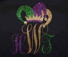 Mardi Gras Monogram t-shirt Www.facebook.com/initialdatllc