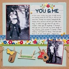 you & me layout by ashley stephens. pebbles fresh goods collection.