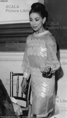 ******** British ballerina Dame Margot Fonteyn wearing a see through dress, Covent garden, London, 1966. The dress was designed by Yves St laurent, for Fonteyn (1919-1991) to watch Russia's Kirov ballet performing 'Swan Lake'.