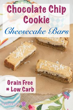 Grain Free Chocolate Chip Cookie Bars made with coconut sugar