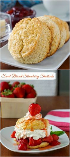 Sweet Biscuit Strawberry Shortcake – a super simple dessert that's perfect for summer barbecues and picnics. Ideal for Canada Day or the 4th of July as well!