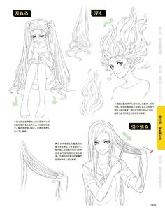 Drawing Hairstyles For Your Characters - Drawing On Demand Hair Reference, Drawing Reference Poses, Drawing Skills, Drawing Poses, Drawing Sketches, Art Drawings, Drawing Hair Tutorial, Manga Drawing Tutorials, Manga Tutorial