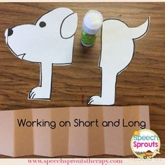 Make this little accordion dog to work on the concepts of short and long. The kids love folding and unfolding him! #speechsprouts