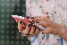 Woman Using a Smart Phone by Lumina
