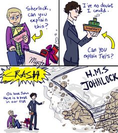 Sherlock ships I maniacally laughed with my arms raised at the end. I'm just…