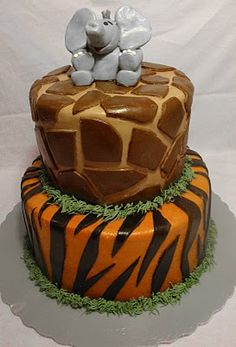 zoo party elephant cake