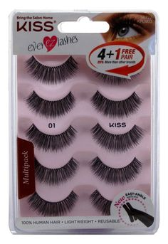 a80ceddd1a6 Kiss Ever Ez 01 Lashes 4 1 Pairs ** To view further for this item, visit  the image link. Beauty and Personal Care · False Eyelashes