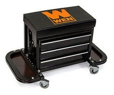 WEN 73015 Garage Glider Rolling Tool Chest Seat
