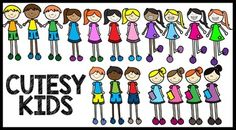 Kids Clipart - School Clipart:Kids Clipart - School Clipart includes 18 kids - See product cover to view all of the kids included.2 boy templates have been recoloured and modified to make 6 different versions. 3 girl templates have been recoloured and modified to make 12 different versions.
