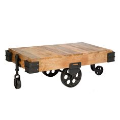 Industrial cart coffee table <3