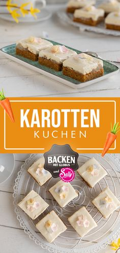 This carrot cake is prepared super quickly. The grated carrots in the batter make the cake super juicy. The cake can also be prepared with zucchini and chocolate. Keto Cookies, Cookie Desserts, Cookie Recipes, Chocolate Cube, Eating Light, Cake Trends, Pretty Cakes, Carrot Cake, Low Carb Keto