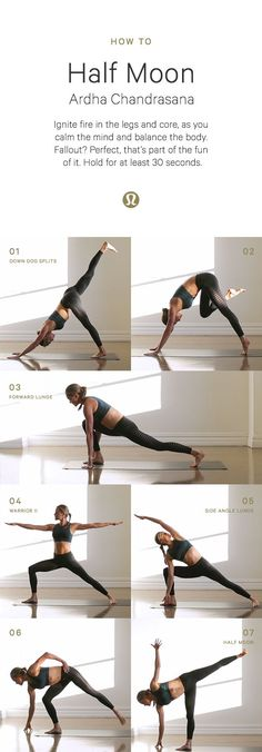 Half moon yoga set