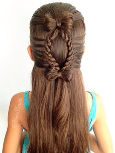 Hair Bow and 4 Strand Lace Braid