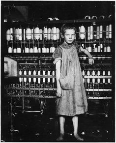 Addie Laird, 12 years old. Spinner in a Cotton Mill. Girls in mill say she is 10 years old, February 1910 by The U.S. National Archives, via Flickr