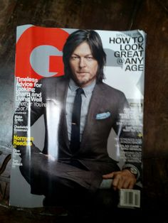 Daryl Dixon on the cover of GQ