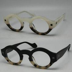 ORIGINAL QUALITY Theo septante trois eyeglasses frame myopia thick vintage black two-color glasses