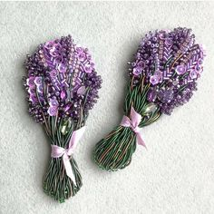 Best 12 Lavender- bead embroidery by handmade_ru_jewellery – Page 46584177382668865 – SkillOfKing. Bead Embroidery Jewelry, Beaded Embroidery, Cross Stitch Embroidery, Embroidery Patterns, Hand Embroidery, Beaded Jewelry, Brooches Handmade, Handmade Jewelry, Lesage