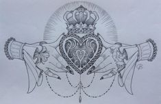 Claddagh design by Nina, Beautiful Freak Tattoo Belgium - This would make a great cover up for my tramp stamp tattoos bracelet tattoos black tattoos leg tattoos armband Sternum Tattoo, Forearm Tattoos, Back Tattoo, Body Art Tattoos, Tribal Tattoos, Sleeve Tattoos, Star Tattoos, Wing Tattoos, Celtic Tattoos