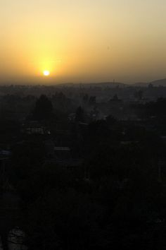 Sunrise over Addis Abba, Ethiopia