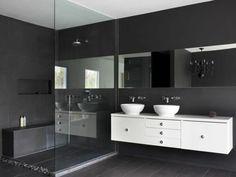 modernes kleines bad duschkabine toilette mosaikfliesen, Hause ideen