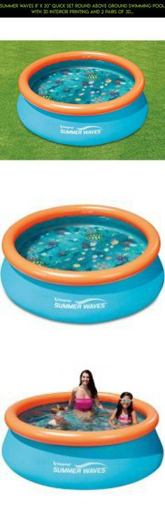 Summer Waves 8 X 30 Quick Set Round Above Ground Swimming Pool With