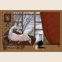 Завтра — зима. Из набора Про Лошадь - Катя Бауман   Магазин открыток Cardspoint.ru