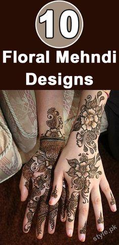 Floral Mehandi Designs