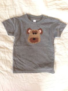 Raw Edge Dog Applique American Apparel T-shirt Yorkie Poo