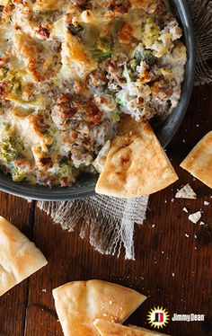 Jimmy Dean Garden Sausage Dip is the kind of dip your guests and family won't be shy about taking the last chip or veggie to get their share of delicious. Perfectly melted cheese, tender broccoli and signature seasoned Premium Pork Roll Sausage are perfect for any potluck or holiday party. It's sure to be a crowd favorite!
