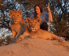 Me at Antelope Park, Zimbabwe.