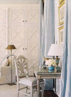 #bleu et blanc salon...door détail