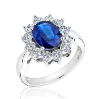 Sapphire and Diamond Ring 1ctw - Size 7 $2,950.00 #Reeds