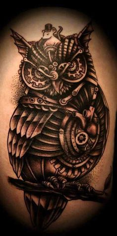 We are talking about the Steam punk tattoo which are now widely accepted all over the world in spite that it is not regarded as a mainstream tattoo till Trendy Tattoos, New Tattoos, Body Art Tattoos, I Tattoo, Sleeve Tattoos, Cool Tattoos, Tattoo Sleeves, Tattoo Thigh, Crazy Tattoos