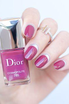 Ruffian Manicure with Dior Cosmopolite: http://sonailicious.com/ruffian-manicure-8-more-nail-art-ideas-with-dior-cosmopolite/