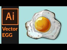 How to draw a vector fried egg in Adobe illustrator - YouTube  This is a very interesting way to practice building up different shapes to create one final shape.