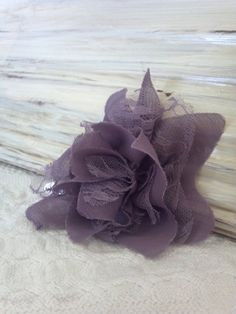 purple bow aprox 4 x 4 in size with barrete like by AubriesPlace, $9.00