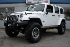 Jeep Unlimited Lifted Jeep Wrangler Jk Unlimited White