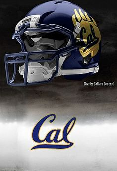 University of California at Berkeley ( Cal ) Golden Bears - concept football helmet Football Helmet Design, College Football Helmets, Football Usa, Football Uniforms, Custom Football, American Football, Football Reference, Collage Football, California Golden Bears
