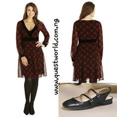 Velvet trim tartan dress red Size 10 #7000 Black Slingback Next Shoe size 6/39 #8000 www.questworld.com.ng Enter QW10% for 10% off orders above #10000