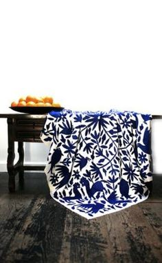 Otomies embroidered fabrics can be used as tablecloth or bredspread.