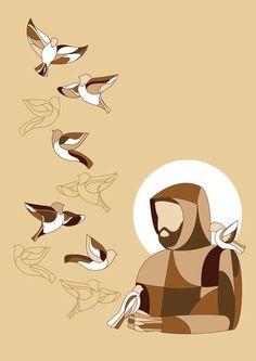 St Francis of Assisi Catholic Art, Catholic Saints, Religious Art, Ste Claire, St Francis Assisi, Holy Art, St Clare's, Bride Of Christ, Sacred Art