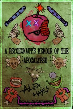 """Cover art I made for """"A Psychonaut's Memoir of The Apocalypse"""" - a horror novel I'm writing."""