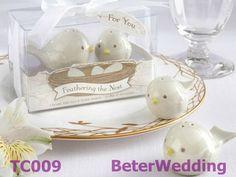 Love Birds Salt and Pepper Shakers TC009(10pcs, 5set) use as door Gift, Wedding Souvenir, Wedding Favor