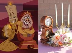 Table center piece ideas-Beauty and the Beast