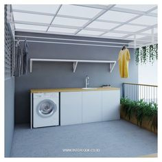 Charming Small Laundry Room Design Ideas For YouCool Charming Small Laundry Room Design Ideas For You.Our Home: Backyard Oasis - Kuzak's ClosetOur Home: Backyard Oasis - Kuzak's Closet-outdoor laundryshutter shelf for laundry room Outdoor Laundry Rooms, Modern Laundry Rooms, Laundry Room Layouts, Laundry Room Bathroom, Laundry Room Storage, Home Room Design, Home Interior Design, House Design, Drying Room