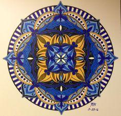 ColorIt Mandalas to Color Volume 1 Colorist: Mary Beth Brown #adultcoloring #coloringforadults #mandalas #mandala #coloringpages