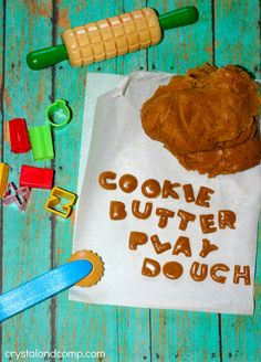 activities for kids cookie butter play dough